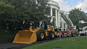 "CATERPILLAR YELLOW IRON - A HIGHLIGHT OF WHITE HOUSE ""MADE IN AMERICA"" SHOWCASE"