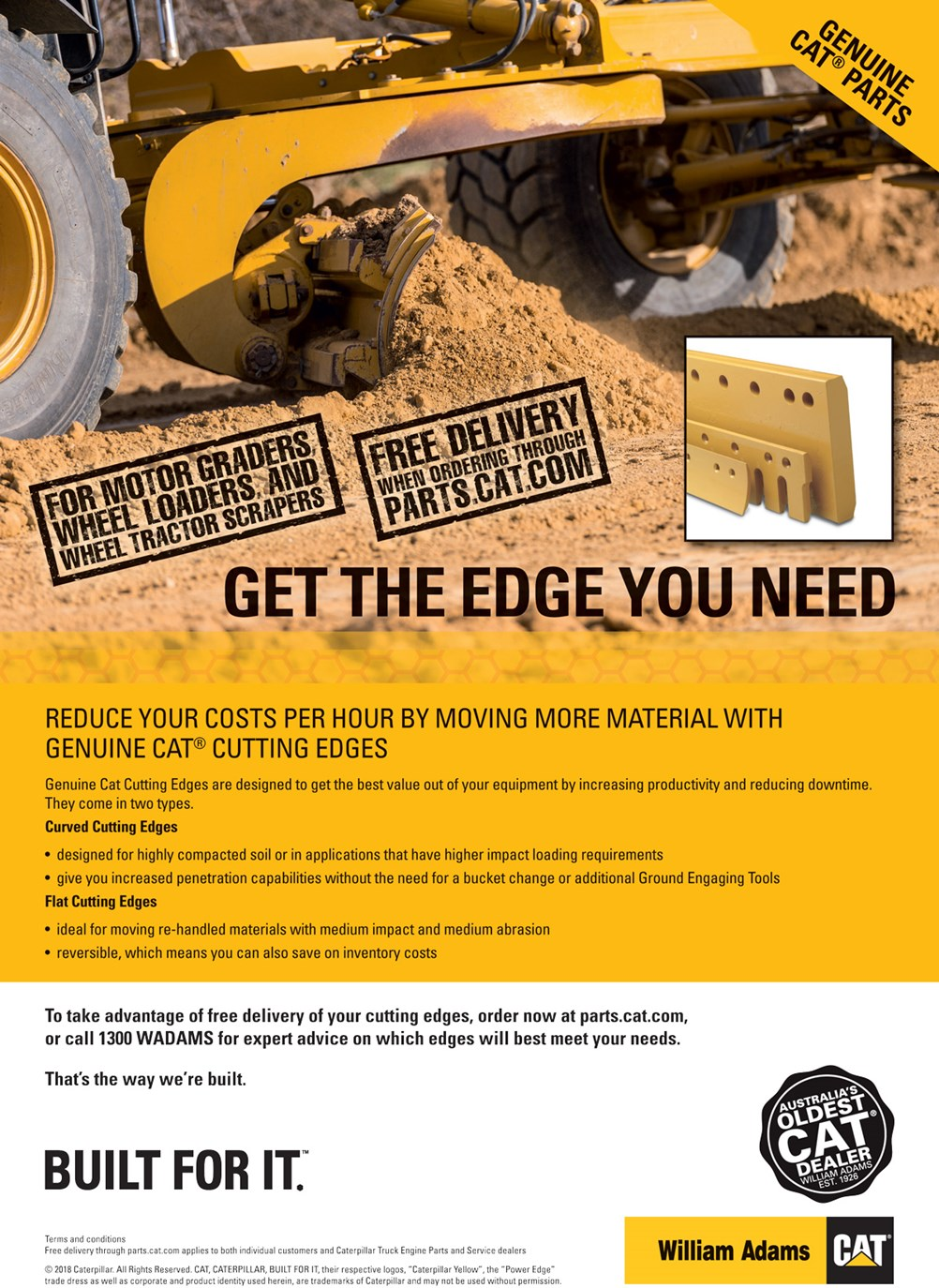 Genuine Cat Cutting Edges | William Adams Cat