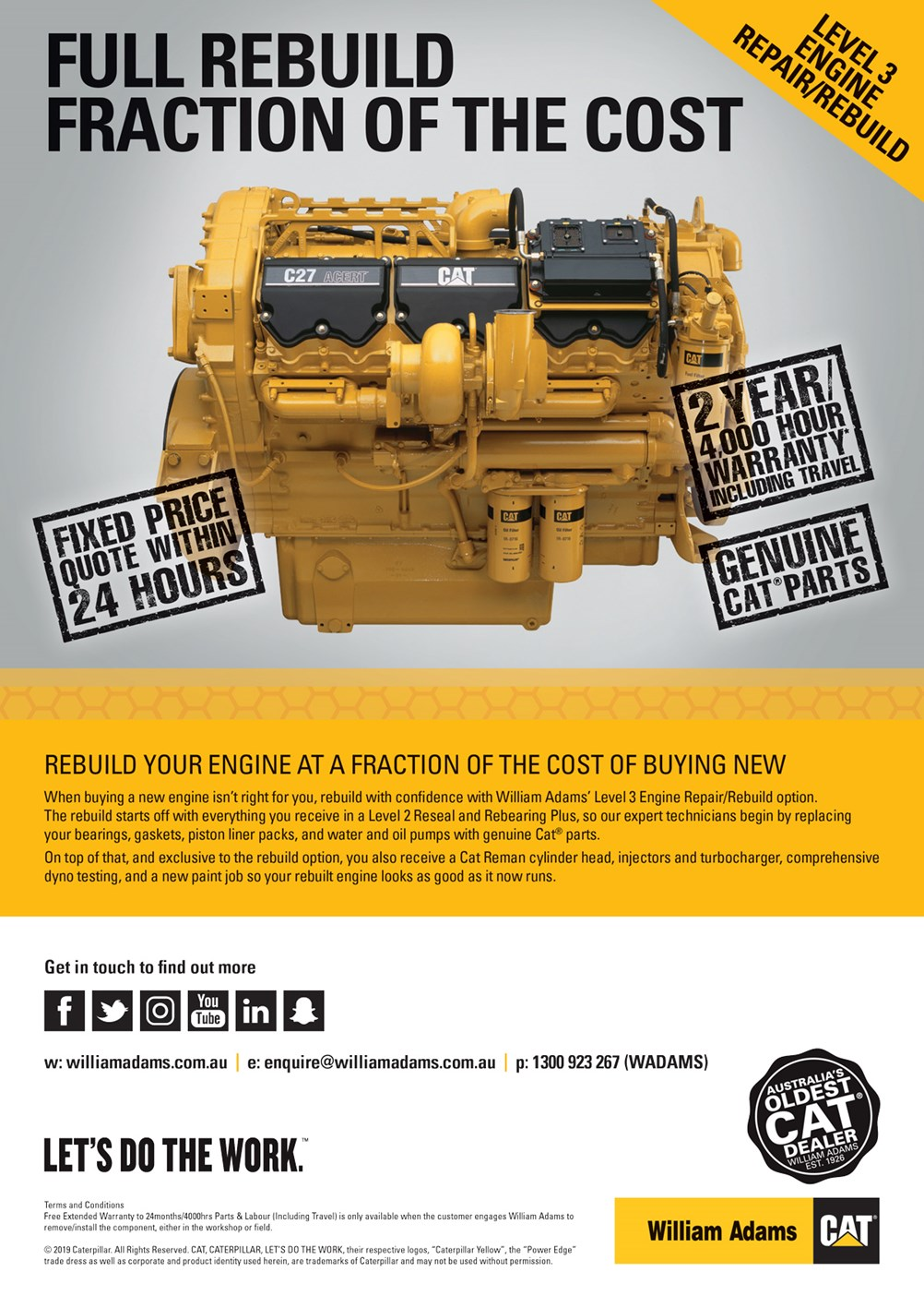 Level 3 Engine Repair/Rebuild | William Adams Cat